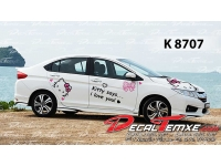 TEM HONDA CITY HELLO KITTY